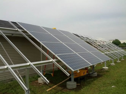BRC Ground Mounted Solar Panels installation view