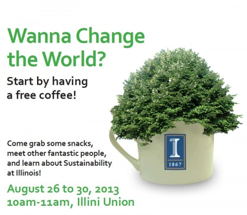 Learn about Sustainability and get free coffee flyer