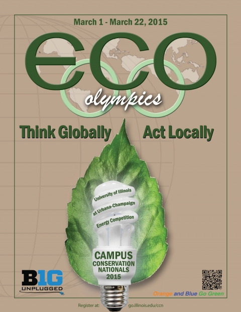 Eco-Olympics 2015 Campus Conservation Nationals (CCN) flyer