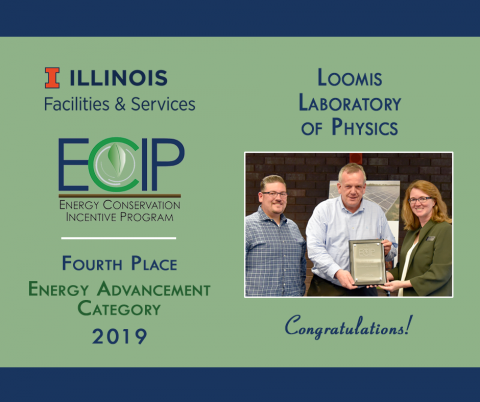 ECIP winners from Loomis Lab accept their award plaque