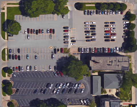 Aerial image of the C9 Parking lot
