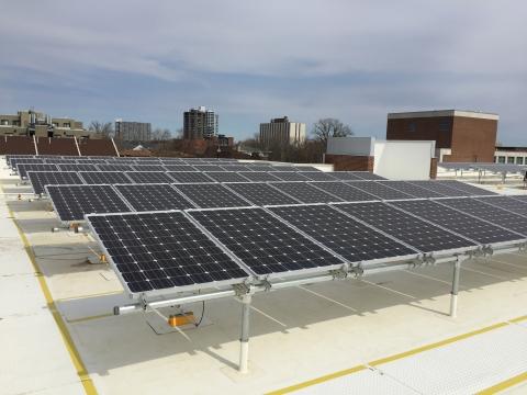 Solar rooftop array on the Wassaja Hall