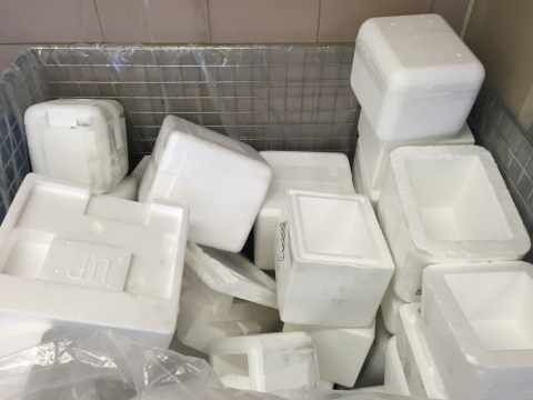 Polystyrene boxes for Styrecycle