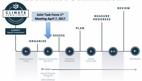 Climate Resilience Task Force timeline chart
