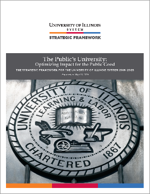 cover page of framework with image of university seal