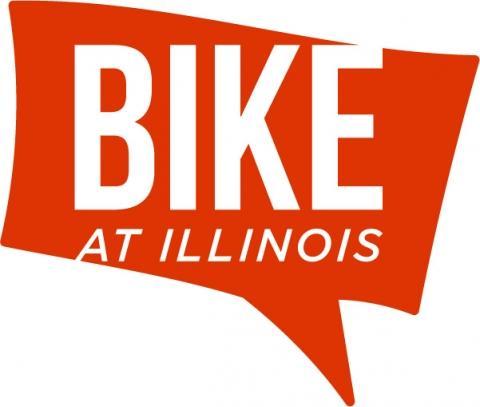 Bike at Illinois logo - 2020 Altgeld Orange