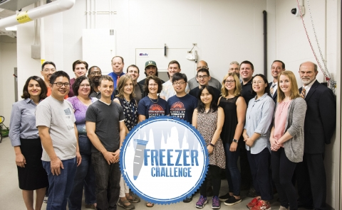 CROPPED Freezer Challenge Group Photo and logo