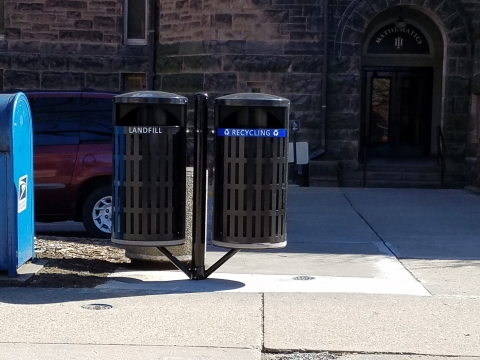 New Outdoor Bins West of the Altgeld Hall