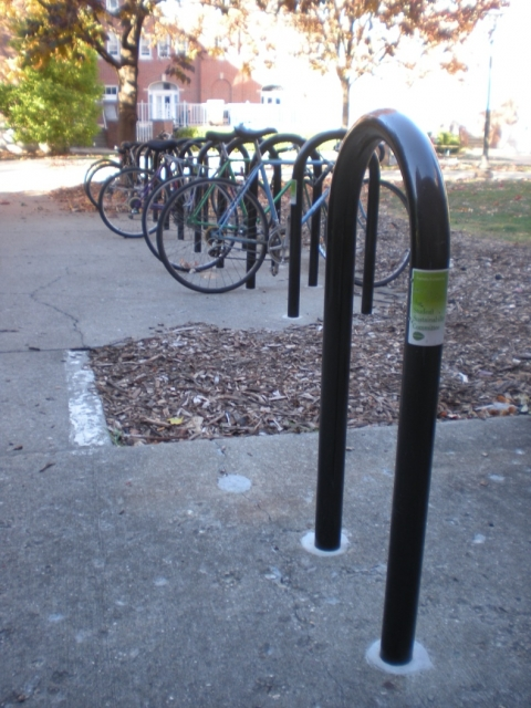 bike parking at Freer Hall