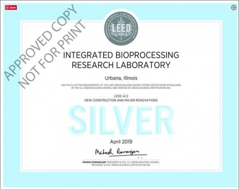 LEED Silver certificate for IBRL