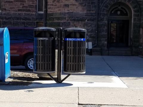 New Outdoor Bins West of the Altgeld Hall