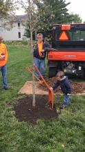 Future Illini adds soil to Arbor Day tree